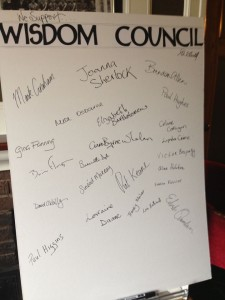 Wisdom Council inaugral signup